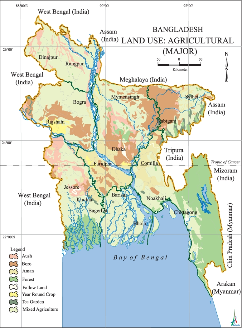 Major Agricultural Landuse Map Bangladesh