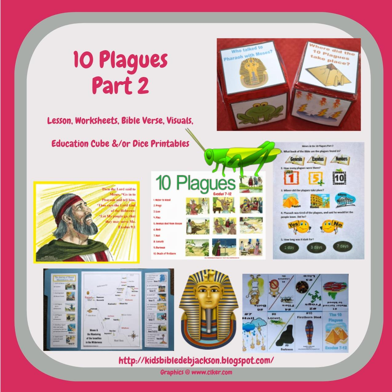 Bible Fun For Kids Moses Amp The 10 Plagues Visuals Part 3
