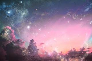 Karmic Debt 13, Numerology, karma, how to deal with karma, pink, sky, blue, cosmic, lights, magic