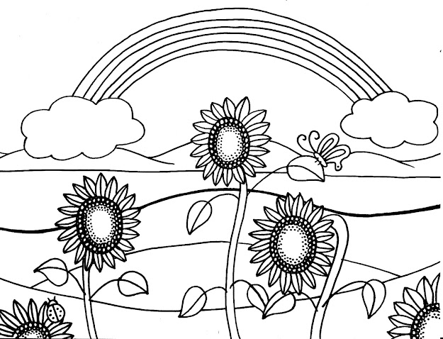 Sunflower Coloring Pages With Sunflower Coloring Sheet Printable Sheets