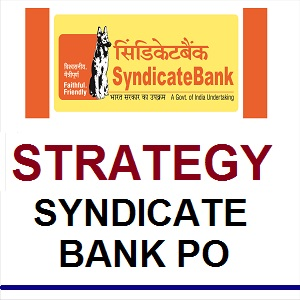 Strategy For Syndicate Bank PO 2018