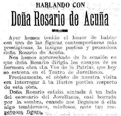 Fragmento de la entrevista, El Publicador 25-9-1909