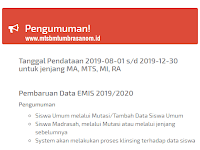Download Surat Edaran EMIS Ganjil 2019/2020