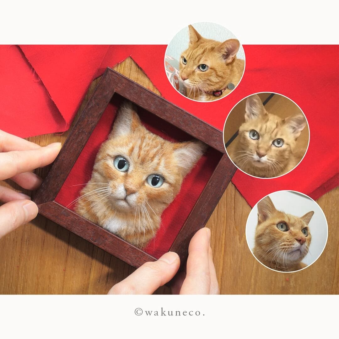 12-Wakuneco-Wool-Needle-Felt-Cat-Portraits-and-Video-Demonstration-www-designstack-co