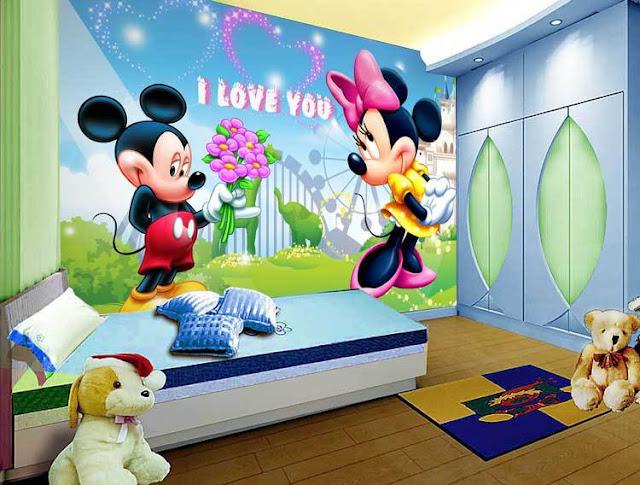 Tapetti Lastenhuoneeseen Disney Mikki hiiri Mickey Mouse Tapetti valokuvatapetti lapsia lasten tapetti lastenhuone tapetti tytön huoneen tapetti