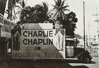 Poster Charlie Chaplin di Hindia Belanda
