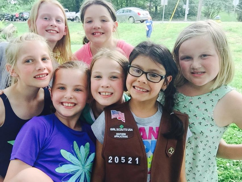 Teen girl scout group party new