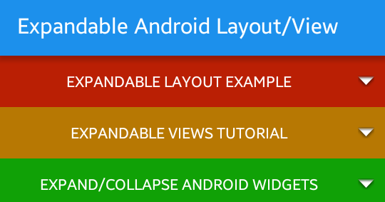 android expandable layout tutorial with example