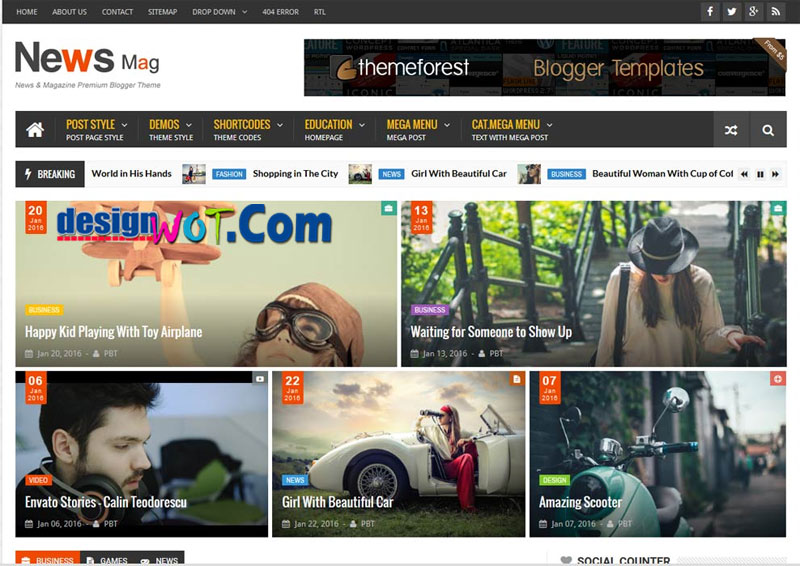 NEWSMAG Responsive Blogger Templates