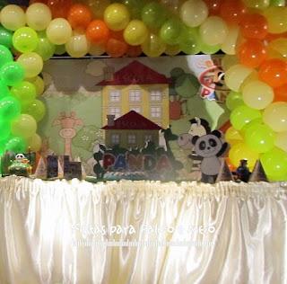 Decoração Festa Panda e Amigos