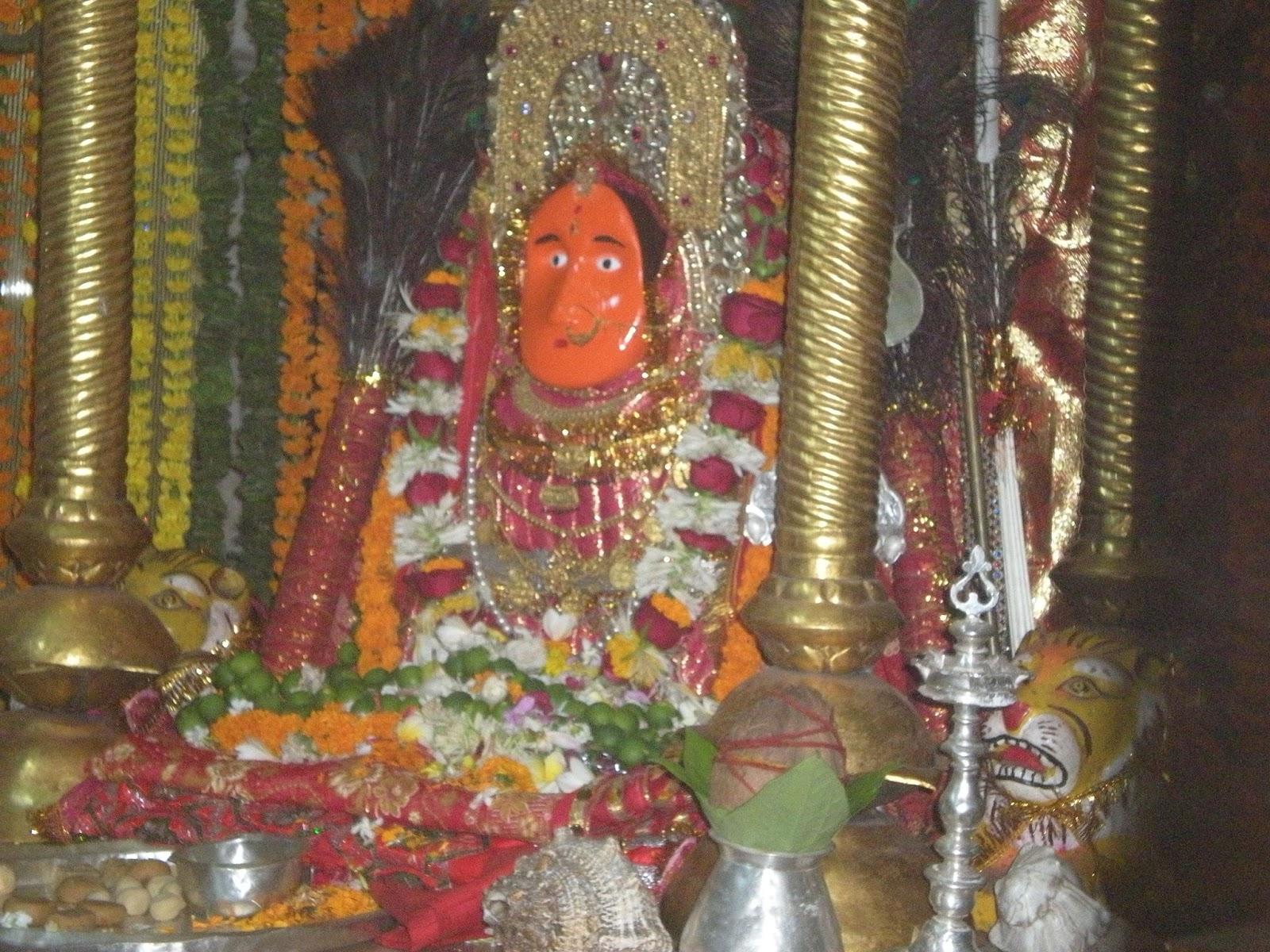 Maa Bamleshwari Devi after Navratri Saptami Maha Abhishek