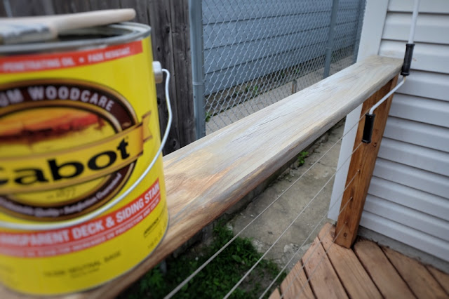 gray outdoor deck stain wood pressure treated Cabot