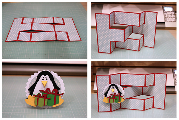 Bits Of Paper Holiday Tri Shutter Cards