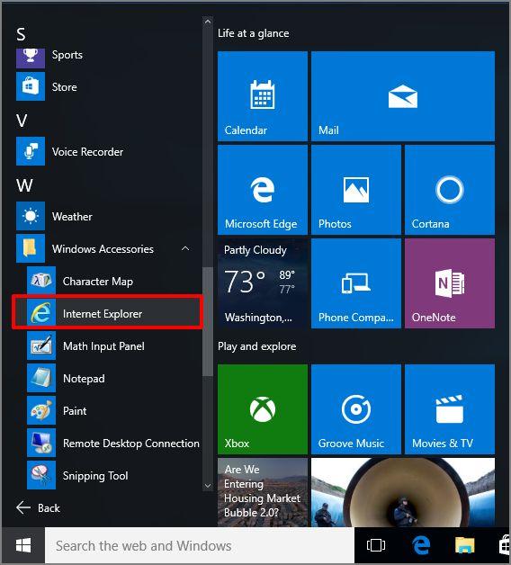 How to Open Internet Explorer for Windows 10 64-bit - Ship ...