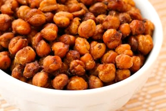 Chickpeas (Garbanzo Beans) Roasted with Tamari and Sea Salt found on KalynsKitchen.com