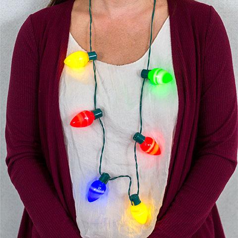dollar tree christmas light bulb necklaces 1 each