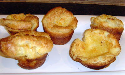 Individual Yorkshire pudding servings on a plate