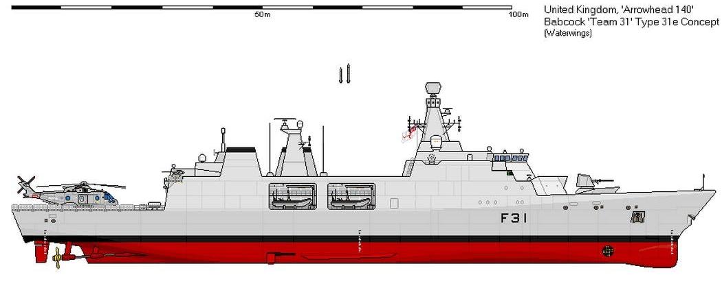Велика Британія замовила п'ять фрегатів типу 31