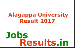 Alagappa University Result 2017