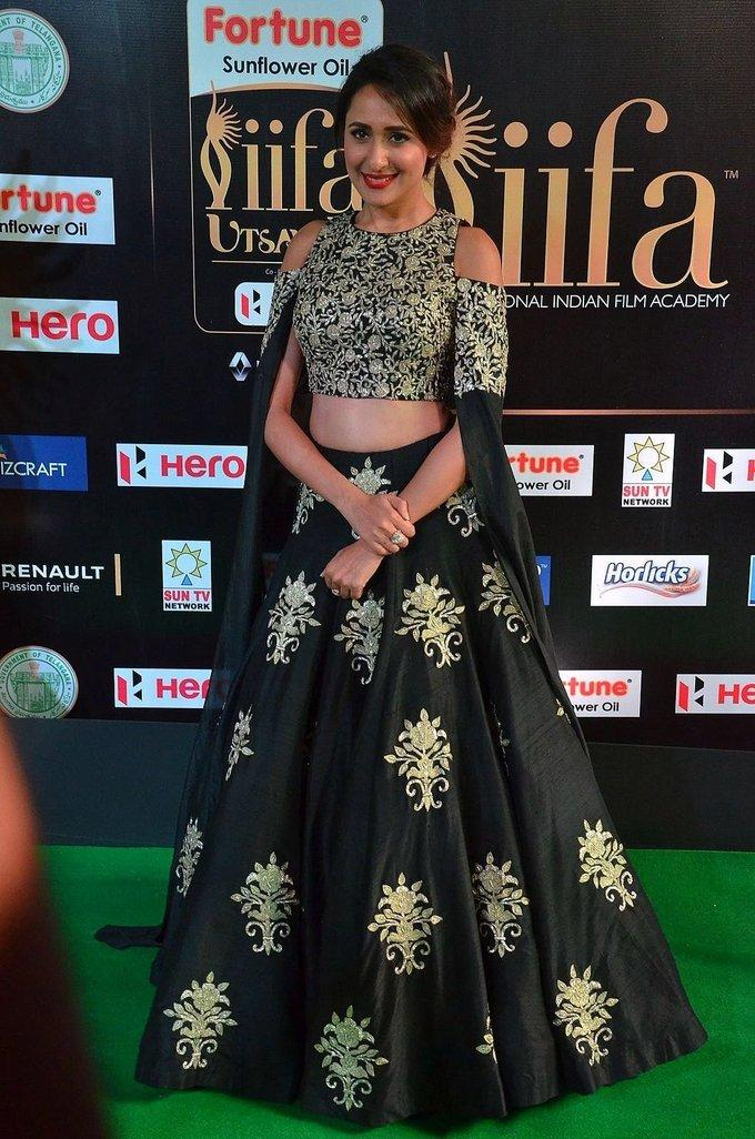 Tollywood Actress Pragya Jaiswal At IIFA Awards 2017 In Green Dress