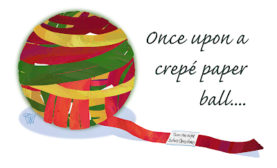 crepe paper ball art by Traci Van Wagoner