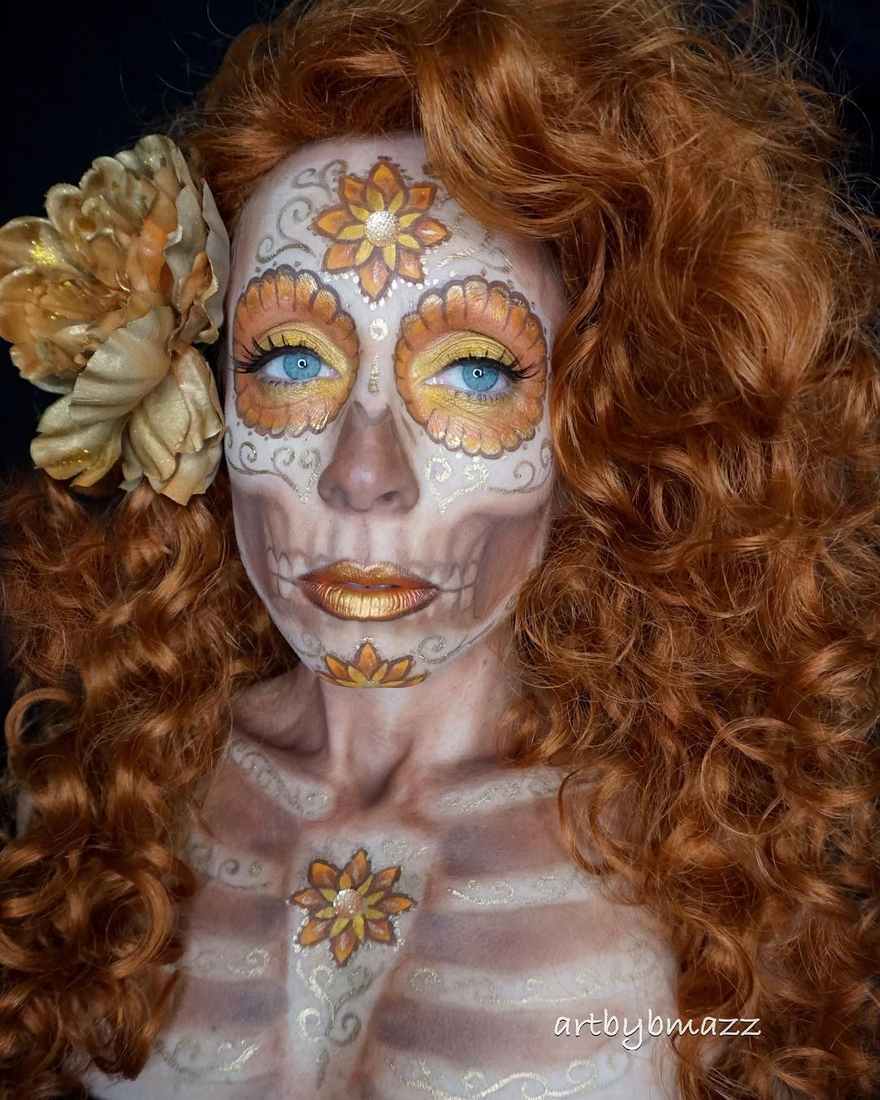 13-Copper-Skeleton-Brenna-Mazzoni-Body-Paint-Fx-Makeup-Transformations-www-designstack-co