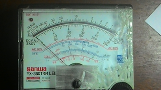 Skala pengukuran multitester analog