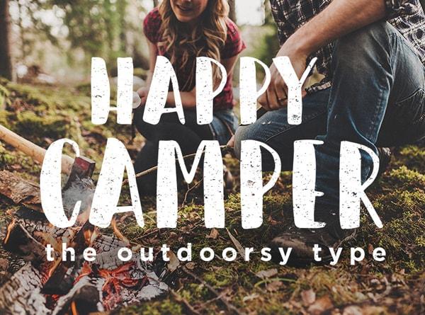 Brush font terbaik 2017 - Happy Camper – Free Brush Font