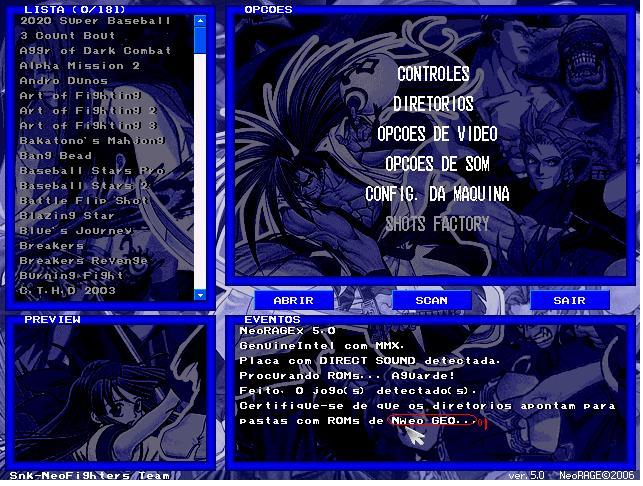 Neo Geo 5 3 roms full Set 181 games mega