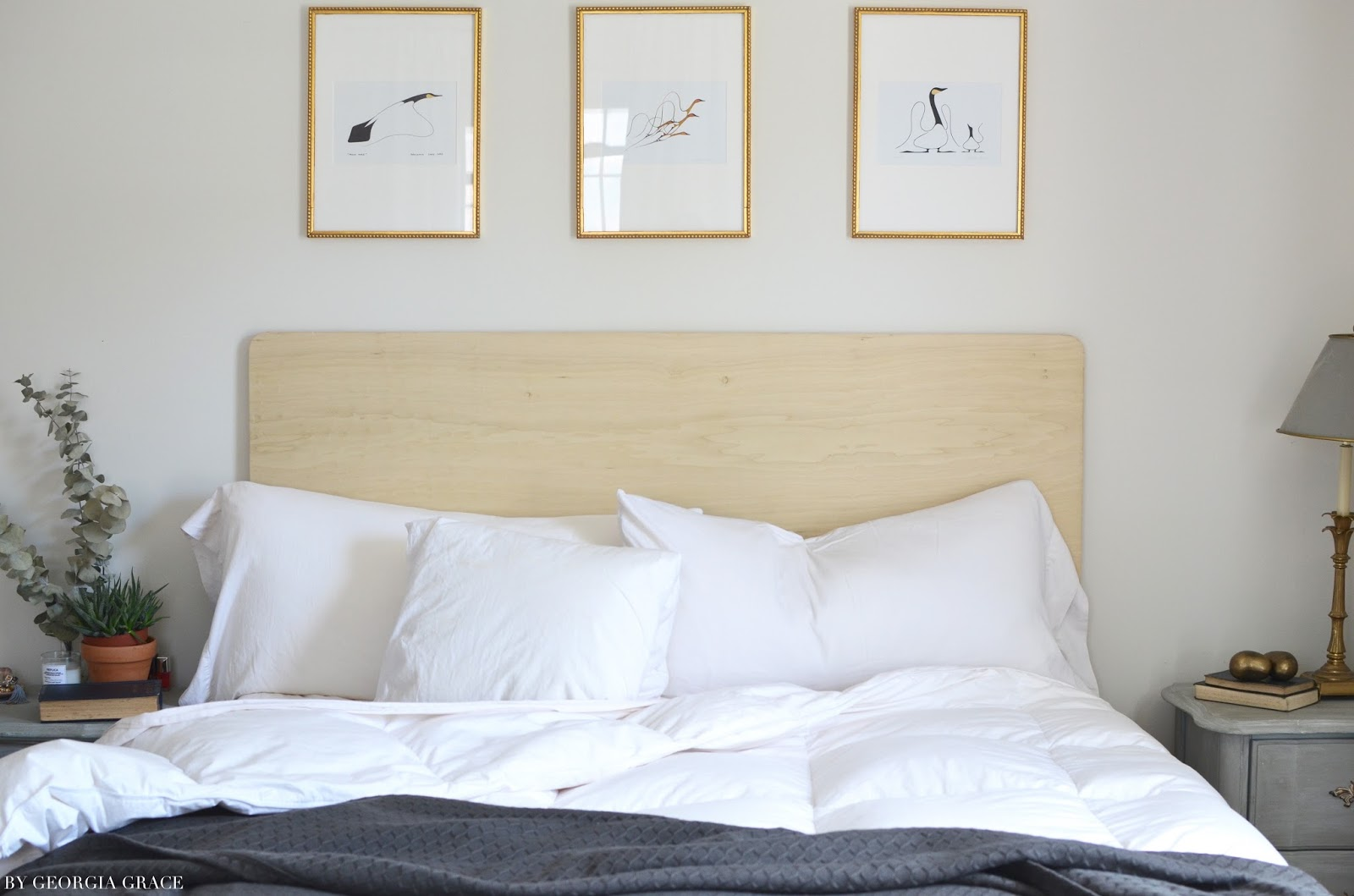 DIY Scandinavian Chic Bare Wood Headboard