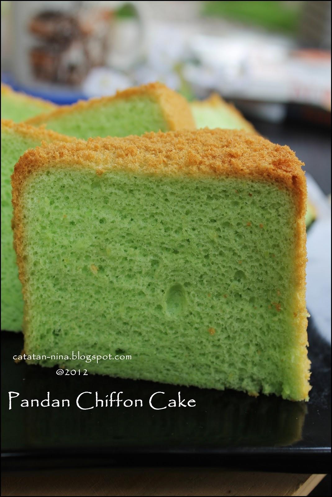 Pandan Chiffon Cake Catatan Nina