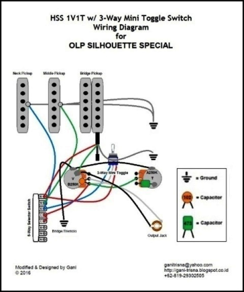 Electric Guitar Wiring Diagrams Olp 2 Pickups 2 Wires 1 ... on