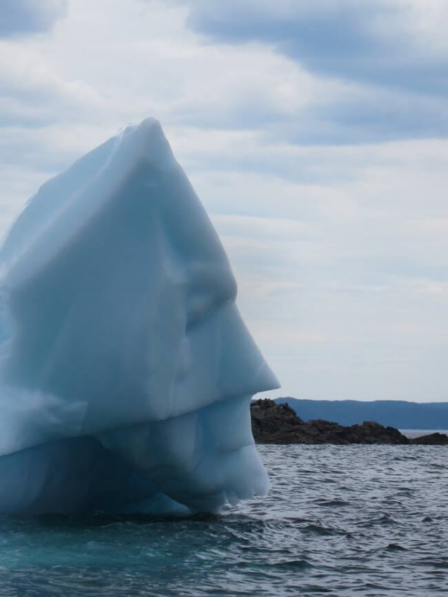 These 25 Highly Confusing Images Made Us Think Twice - This iceberg is just ready to preserve law and order.