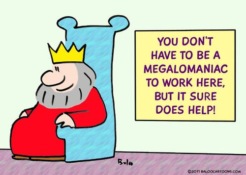 BALOO'S CARTOON BLOG: Megalomaniac cartoon