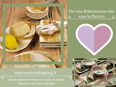 Ecobioshopping piatti in Foglia di Palma