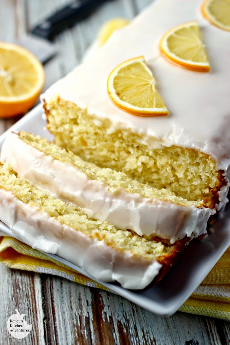 Meyer Lemon Loaf Cake | Renee's Kitchen Adventures: moist lemony cake with a lemon glaze