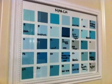 Buat Sendiri 7 Kreasi Kalender dari Kartu Warna Cat
