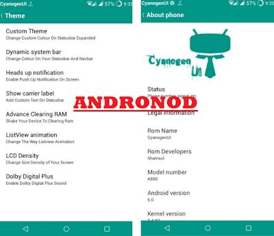 Rom CyanogenUI For Lenovo A880
