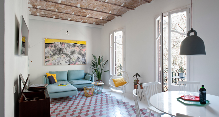 salón apartamento colorista