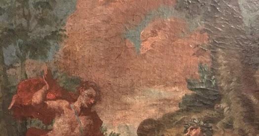 Barocco barock baroque cciatore e coppia di innamorati quadro su