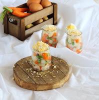 Ensaladilla rusa con mayonesa de atún