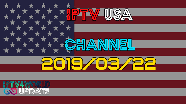 Iptv America M3u Free Channels 22/03/2019 - iptv4world