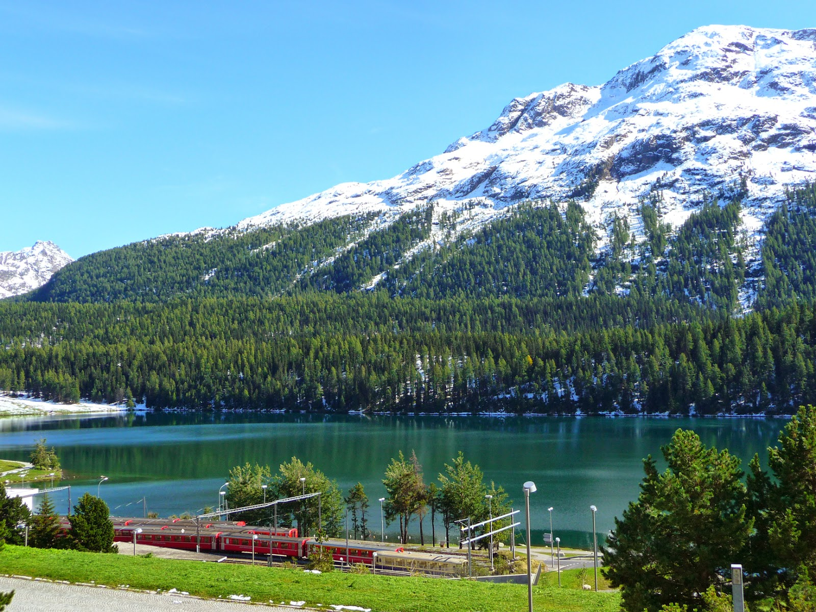 The St. Moritz Railway Station © 2014 For The Love Of Italy