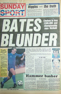Newspaper back page from 30th November 1986 Sunday Sport tabloid