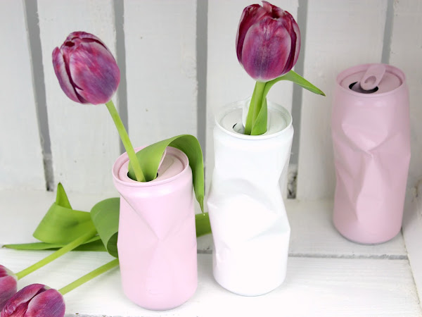 DIY Blumenvase aus alten Dosen - geniale Recycling / Upcycling Idee