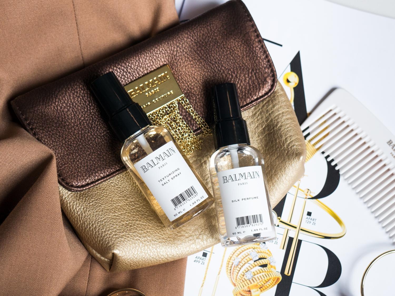 Balmain Hair Couture perfumy do włosów Silk Perfume oraz Texturizing Salt Spray, czyli spray na bazie soli morskiej