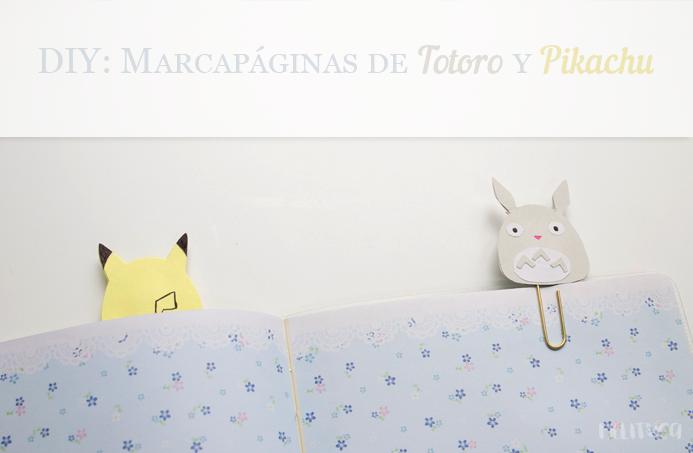 diy clips totoro pikachu