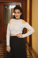 Manjusha in sleevelss crop top and black skirt at Darshakudu pre release ~  Exclusive Celebrities Galleries 075.JPG