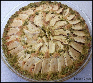 elmalı cevizli tarçınlı kek