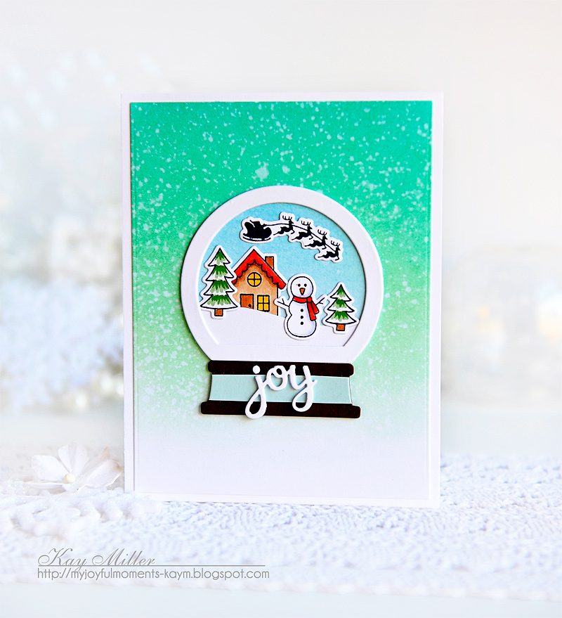Snow Globe Cards by Special Guest Kay Miller | Snow Globe Scenes Stamp Set by Newton's Nook Designs #newtonsnook #handmade